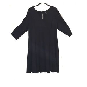 Fit and flare 3/4 sleeve dress